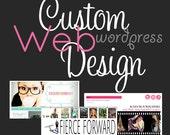 Custom Responsive Wordpress Website Design, custom blog, custom web design mobile tablet ready wordpress theme