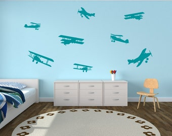 Airplane Wall Decal Etsy - Vinyl wall decals airplane