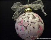 Pink Hydrangea Glass Ornament