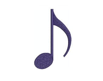 Machine Embroidery Design Instant Download - Music Eighth Note