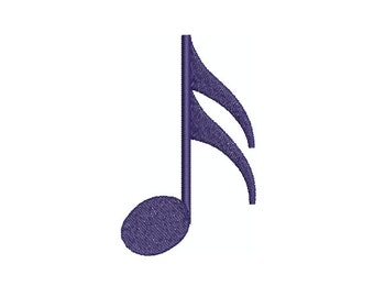 Machine Embroidery Design Instant Download - Music Sixteenth Note
