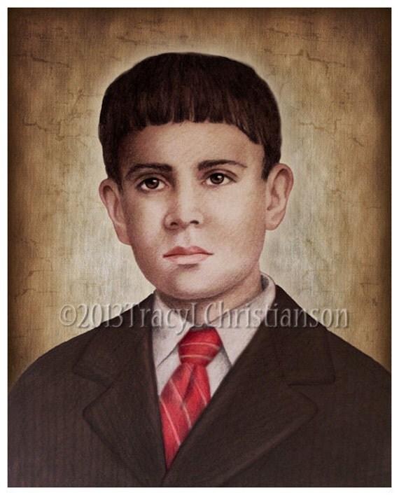 Bienheureux <b>Jose Sanchez</b> del Rio Art Print Saint Patron catholique #4009 - il_570xN.555536815_13go