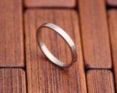 14k White Gold Ring // Wedding Ring // 2mm Rectangular Wedding Band // Shiny or Matte Finish // Eco Friendly Recycled Gold // women men