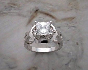 Engagement Ring Setting Architectural Design 14K Gold