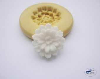 Mum Mold 2 - Chrysanthemum Flower Mold - Silicone Mold - Polymer Clay Resin Fondant