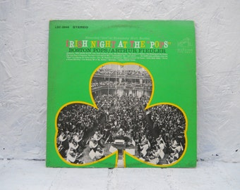 Irish Night At The Pops, Boston, Orchestra Arthur Fiedler Vinyl 33-1/3 RPM. Vinyl Record