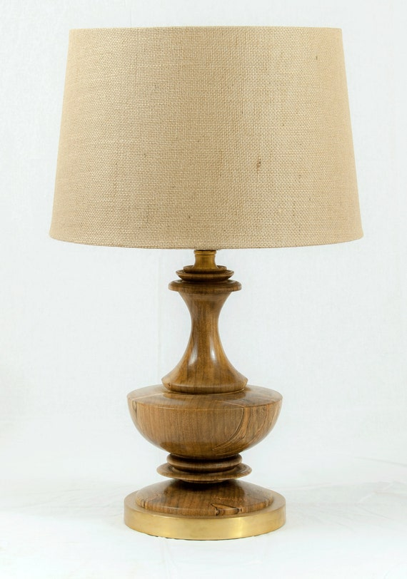Hand Made Lathe Turned Electric Wooden Lamp Spalted Ambrosia