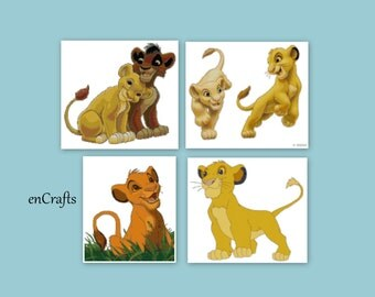 Lion King 4 Cross Stitch Patterns