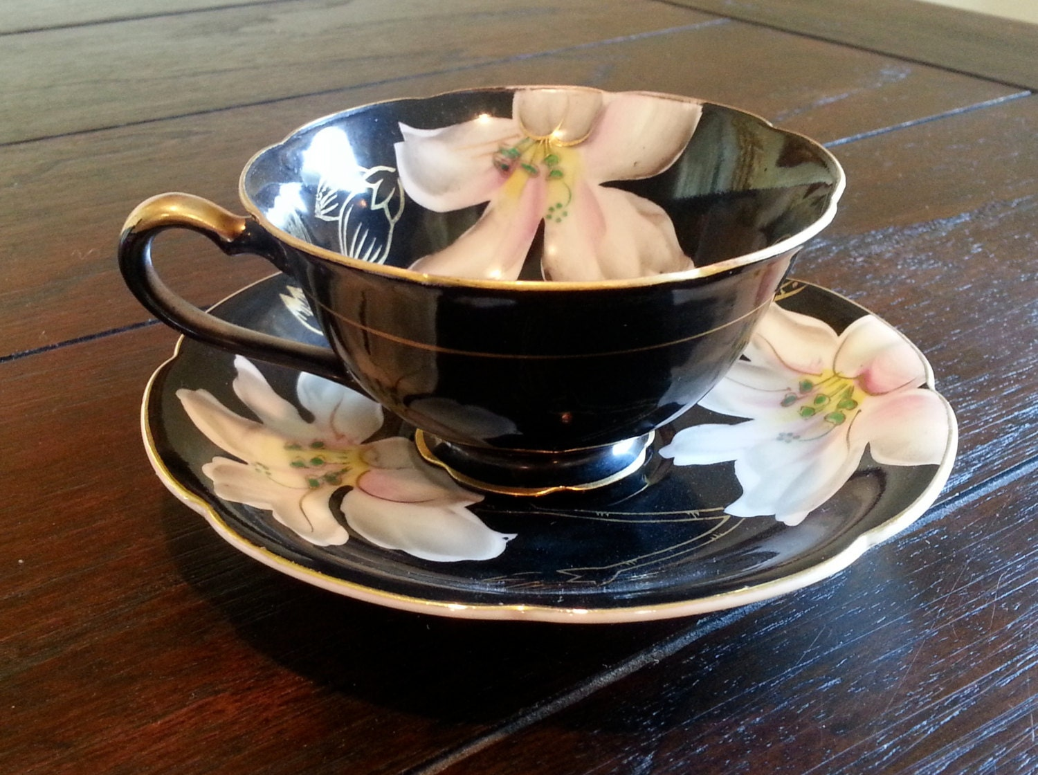 antique made in occupied japan orion china tea cup and saucer. Black Bedroom Furniture Sets. Home Design Ideas