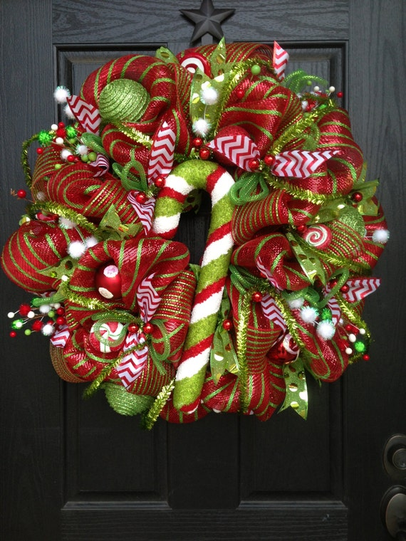 Unavailable listing on etsy - Awesome christmas wreath with homemade style ...
