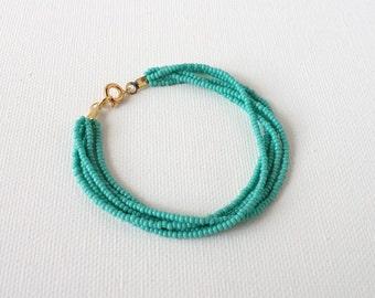 Turquoise bracelet, seed bead bracelet, beaded bracelet, teal bracelet, aqua bracelet, sea green bracelet, seed bead bracelet, gift idea