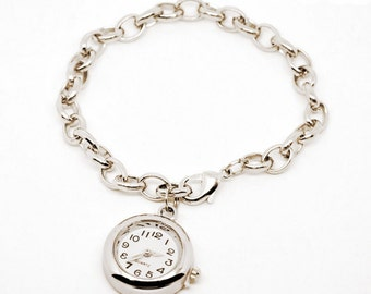 Watch Charm Bracelet In Silver Tone