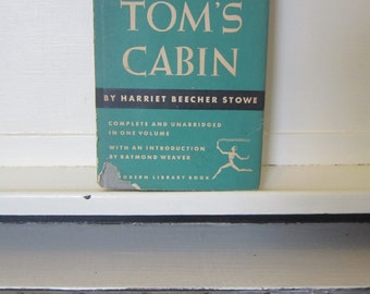 """1938, """"Uncle Tom's Cabin"""", by Harriet Beecher Stowe, The Modern Library, New York"""