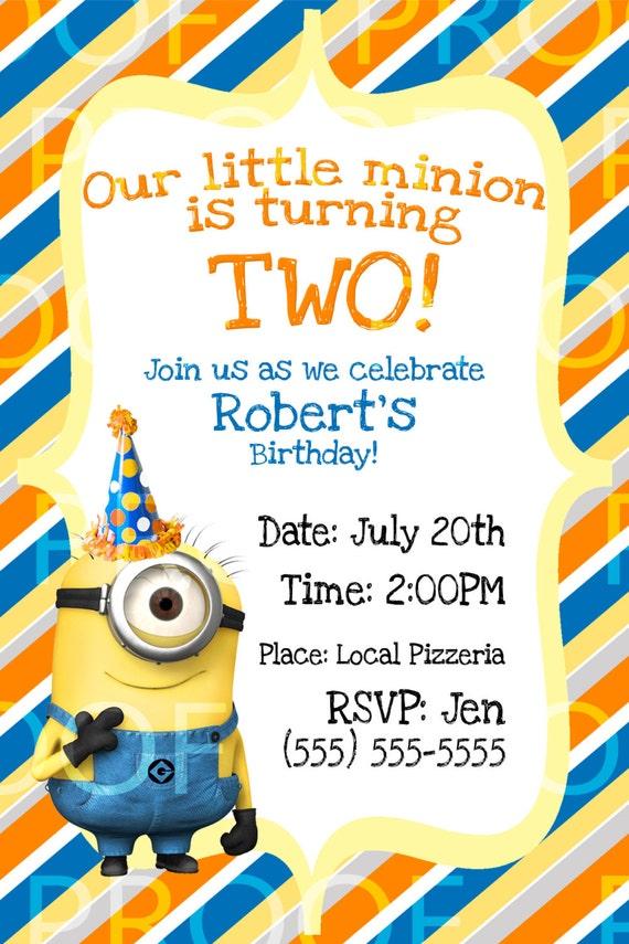 Diy Minion Invitations is nice invitations layout