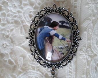 Spring, John William Waterhouse, Cameo Brooch, Inspired Gift