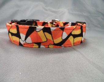 Candy Corn Toss Halloween Dog Collar