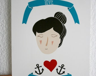 Print - Love is my Anchor-
