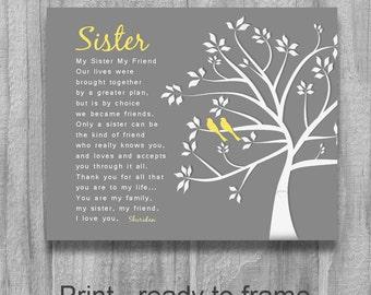 Wedding Gift For Older Sister : Popular items for gifts for sister