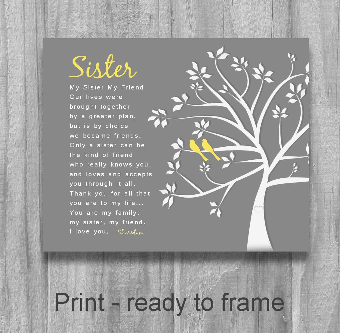 A Special Wedding Gift For My Sister : SISTER GIFT My Sister My Friend Personalized Sister Gift Tree