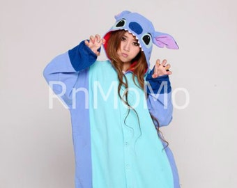 KIGURUMI Cosplay Romper Charactor animal Hooded PJS Pajamas Pyjamas Xmas gift Adult lilo  Costume sloth  outfit Sleepwear stitch
