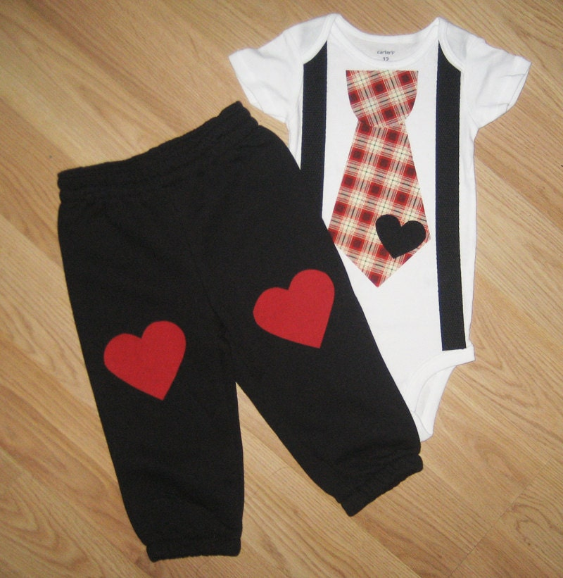 Baby Boy Clothes Baby Bow Tie With Vest First Valentines  |Baby Boy Valentine Outfit