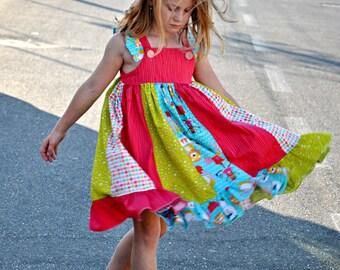 IsLa TwIrLy  StRiPwOrK Dress - pdf Pattern - sizes 3M - 12Y