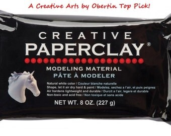 8 oz Creative Paper Clay Air Dry Modeling Material White, Acid-Free, Non-Toxic and Lightweight