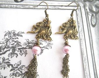 the Shepherdess - earrings with baroque motif in vintage style