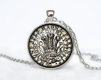 Vintage coin pendant vintage coin necklace old coin jewelry