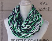 Ready To Ship - Seattle Seahawks- Sparkle Fan Infinity Scarf**LIMITED QUANTITIES LEFT**