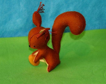 Waldorf Squirrel With A Nut Doll, Handmade From Natural Materials
