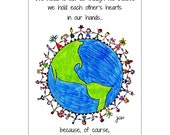 We Hold Each Other's Hearts greeting card
