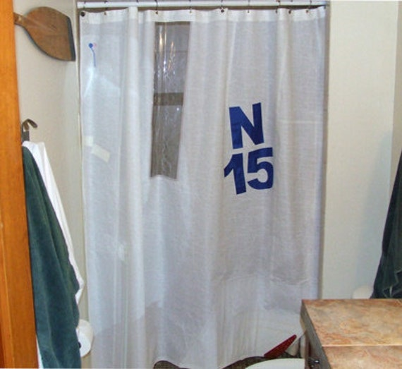 sailcloth shower curtains made from real recycled sails.
