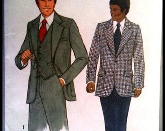 Simplicity 8493  Men's Lined Jacket, Vest And Pants  2 SIzes Available   UNCUT