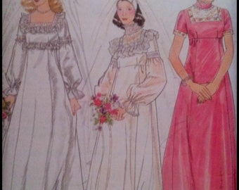 "Butterick 4623  Misses' Bridal & Bridesmaid Gowns  Bust 31.5""  UNCUT"