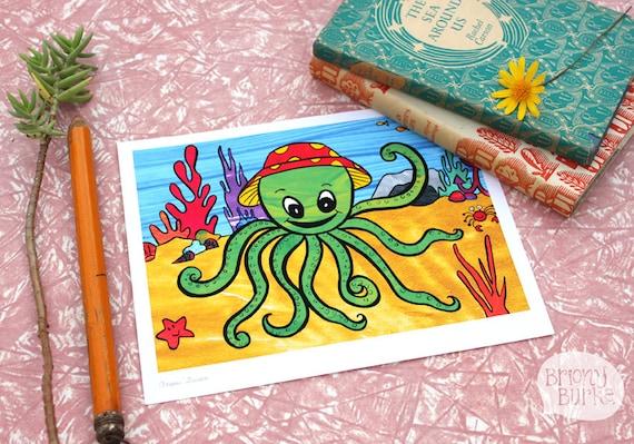 The Beatles Octopus 39 Garden Art Print Wall Art By Brionyburke