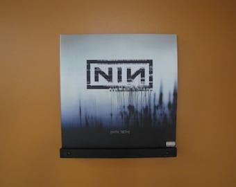 Floating Vinyl Record Shelf Pair