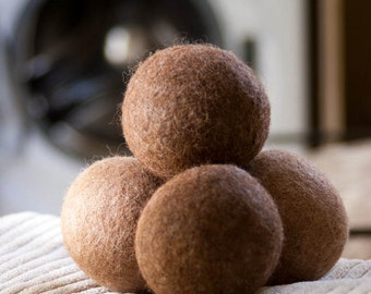 Alpaca Dryer Balls All Natural Alpaca Wool Eco Friendly Felted Laundry