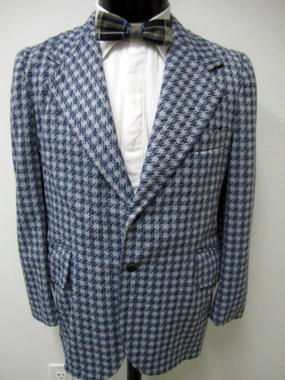 Menu0026#39;s 1970u0026#39;s Funky Plaid Blazer. Sport By VintageWearTreasures