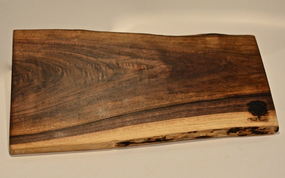 Natural Edge Walnut Serving Tray Cutting Board For Appetizers