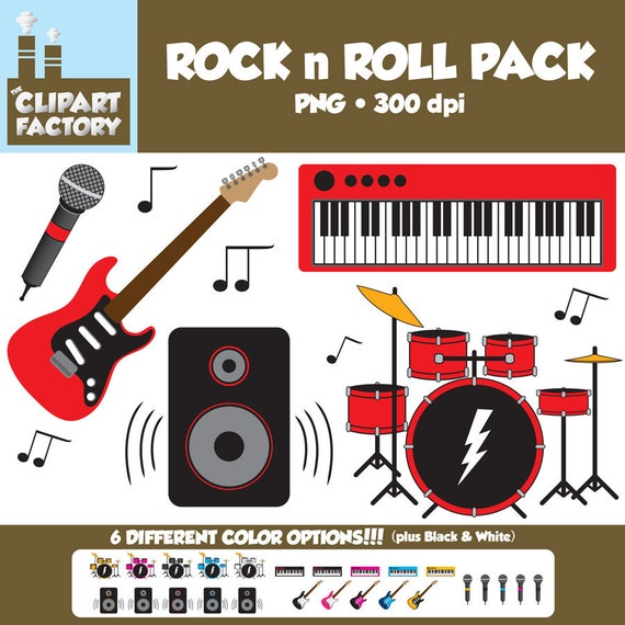 Clip Art Rock N Roll Fun