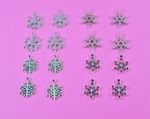 40 Snowflake Charm Collection Bulk Listing (Double sided) - 4 different styles