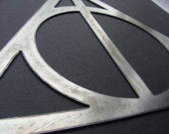 Sign of the Deathly Hallows Harry Potter Inspired Metal Sign