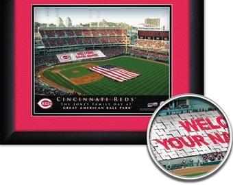 Cincinnati Reds  Personalized Print Great American Ballpark