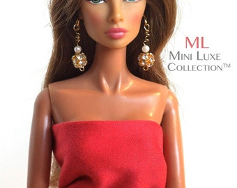 Fashion Doll Earrings | Fashion Royalty Dolls | Barbie Jewelry | Barbie | Poppy Parker | Poppy Parker | Silkstone Barbie