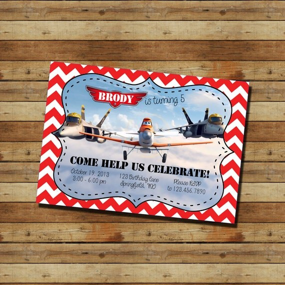 Items Similar To Airplane Birthday Invitation