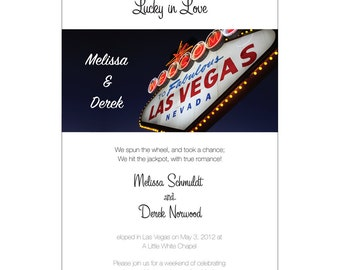 We Eloped, Reception Invitation with RSVP