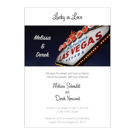 We Eloped Reception Invitation with RSVP by SaraBeeStudio on Etsy