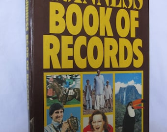 Vintage Guinness book of Records 1983 Edition Hardcover