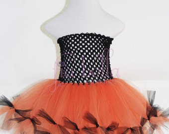 TUTU DRESS...Halloween Black and Orange Tutu Dress...Newborn Tutu..Baby Tutu..Toddler Tutu..Cakesmash Tutu..Birthday Tutu..Halloween Costume